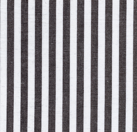 "White and Black 1/4"" Stripe - 45"" width"
