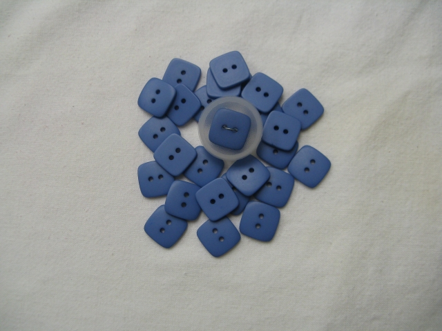 Blue- square - molded