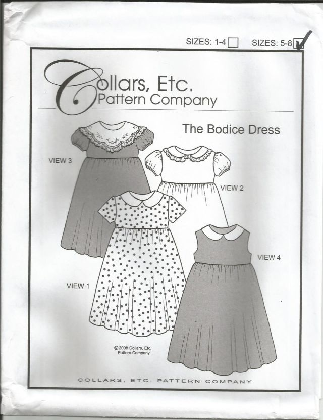 The Bodice Dress Size 5-8