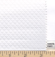 "Dakota Pique - 60"" wide - White"