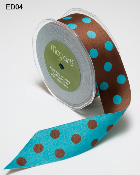 Reversible Satin Polka Dot - 1""