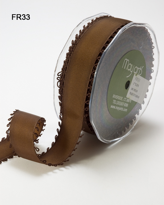 "Grosgrain w/Loops - 1"" - Brown"