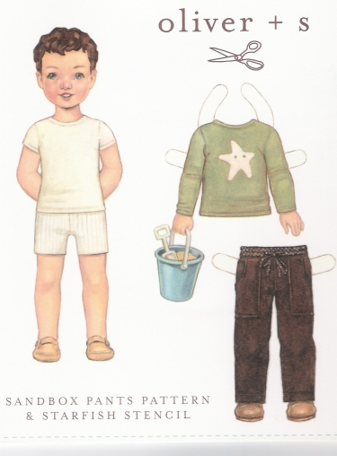 Sandbox Pants & Starfish Stencil Size 4-8