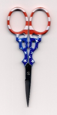 "3 1/2"" Embroidery Scissors - Patriotic!"