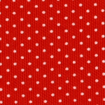 "Red w/White Polka Dots Pique - 60"" width"