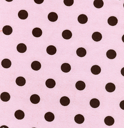 "Chocolate on Pink Dot - 60"" width"