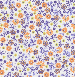 "Floral Print Small - Grape 60"" width"