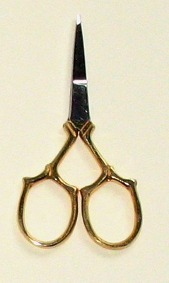 "3 1/2"" Embroidery Scissors ~ Gold Plated Handle"