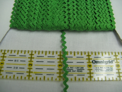Rick Rack - Grass Green - 1/8""