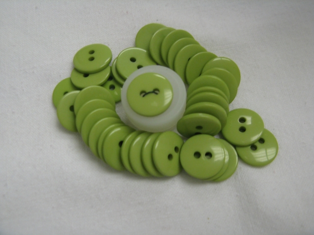 2 Hole Lime Green
