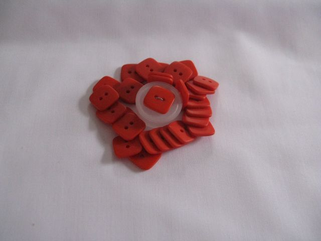 "Tiny Buttons - 1/4"" Orange"
