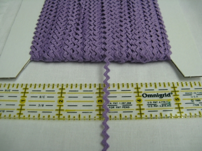 Rick Rack - Purple - 1/8""