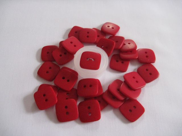 "Tiny Buttons - 1/4"" Red"