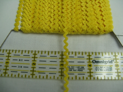 Rick Rack - Slicker Yellow - 1/8""
