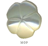 MOP 5-Petal Flower- Self Shanked- 1/2""